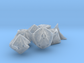 Stretcher Dice Set With Decader in Smooth Fine Detail Plastic