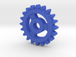 Involute Gear M1 T20 in Blue Processed Versatile Plastic