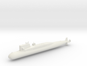 1/700 Type 092 (Xia Class) SSBN in White Natural Versatile Plastic