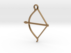 bow pendant in Natural Brass