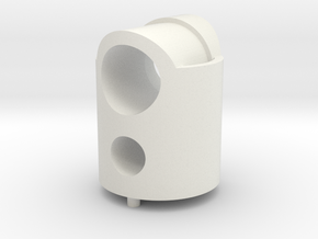 micromouse LED/sensor mount in White Natural Versatile Plastic