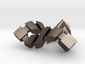 Impossible Triangle, Cubed in Polished Bronzed Silver Steel