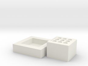 Nail Mold Final V1 in White Natural Versatile Plastic