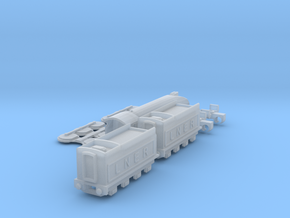 T-gauge LNER A4 Pacific - Uses Eishindo Wheels in Smooth Fine Detail Plastic
