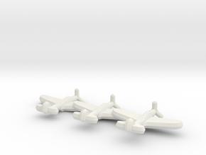 P-39 Airacobra (triplet) 1/900 in White Natural Versatile Plastic