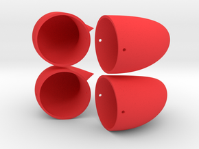Small Horns - Double Set in Red Processed Versatile Plastic