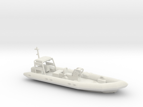 Rigid Inflatable Boat (1:148) in White Natural Versatile Plastic: 1:76 - OO