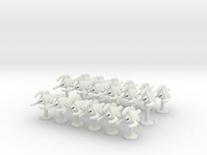 BFG Bug Assault Boats (x18) in White Natural Versatile Plastic