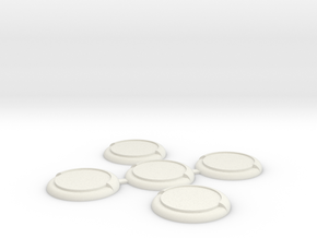 WM30mm-5-Pack in White Strong & Flexible