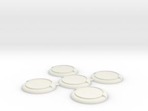 WM30mm-5-Pack in White Natural Versatile Plastic