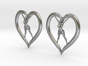 Joyful In Heart Earrings (wearing skirt) in Natural Silver