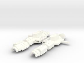 Spring Blaster in White Processed Versatile Plastic