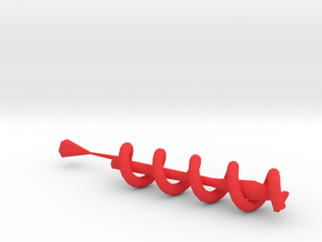 Spiral earphone wrap in Red Strong & Flexible Polished