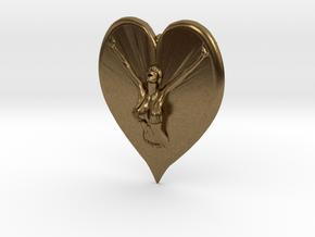 Joyful In Heart Pendant in Natural Bronze