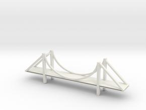 Golden Gate Bridge in White Natural Versatile Plastic