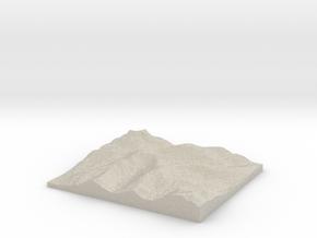 Model of Hart Crag in Sandstone