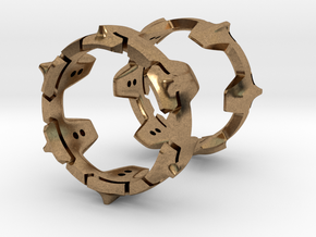 Mystery Ring (small) 17 mm in Natural Brass