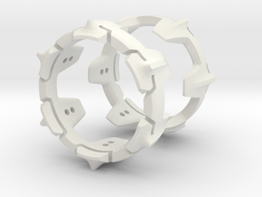 Mystery Ring (20.5 mm opening) in White Natural Versatile Plastic