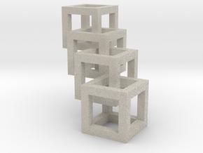 interlocked cubes in Natural Sandstone