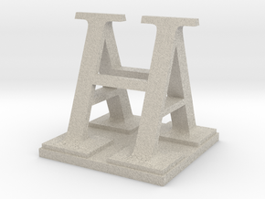 Two way letter / initial A&H XL in Natural Sandstone