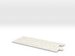 Pflaster Ende Gerade 65mm in White Natural Versatile Plastic