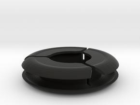 Earbud Reel in Black Natural Versatile Plastic