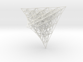 Projection of 4D lattice in White Natural Versatile Plastic