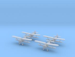 1/200 Polikarpov I-15 Chato (x4) in Smooth Fine Detail Plastic