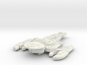 Nerok Class Destroyer in White Natural Versatile Plastic
