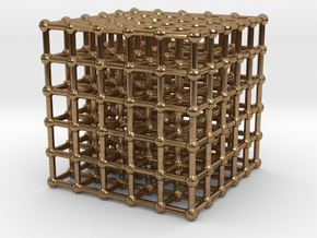 cube matrix (large) in Natural Brass