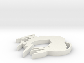 Foxhound in White Natural Versatile Plastic