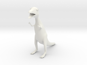 Nasty Small Dinosaur in White Natural Versatile Plastic