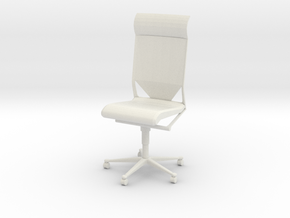 Gi Joe Office Chair in White Strong & Flexible