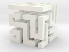 Cube Maze in White Processed Versatile Plastic