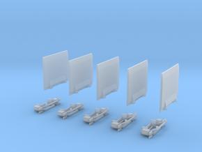 Ladebordwand Glatt Mit Kinematik 5x in Smooth Fine Detail Plastic
