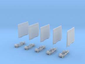 Ladebordwand Glatt MitKlappteil- Kinematik 5x in Frosted Ultra Detail