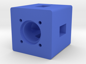 Motor Mount 1 in Blue Processed Versatile Plastic