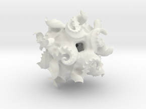 Modified Quaternion IFS 3D Fractal in White Natural Versatile Plastic