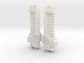 Gun Parts in White Natural Versatile Plastic