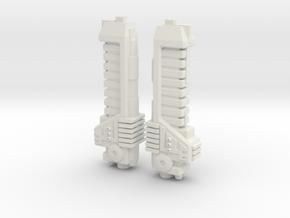 Gun Parts in White Natural Versatile Plastic