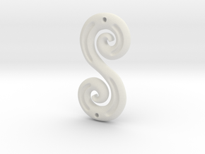 DoubleSpiral in White Natural Versatile Plastic
