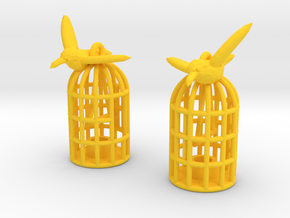 Flown The Coop (smaller version) in Yellow Processed Versatile Plastic