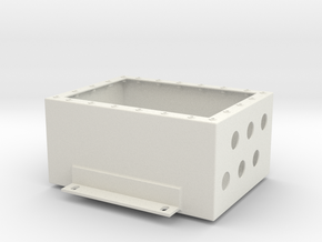 Junction Box in White Natural Versatile Plastic