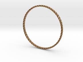 Turk's head bracelet in Polished Brass