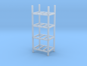 Steel Storage Racks 1/87(HO Scale) - 4 High in Smooth Fine Detail Plastic