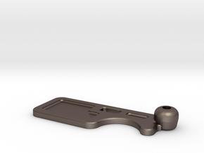 RX100 Shutter Release Mount in Polished Bronzed Silver Steel