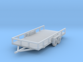 Flat Bed Trailer HO Scale in Smooth Fine Detail Plastic