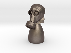 Gas Mask Piece in Stainless Steel