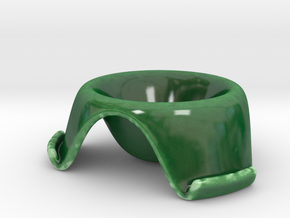 ^egg cup 3 leg supports in Gloss Oribe Green Porcelain