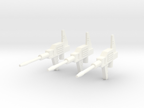Sunlink - Datsun v4 Gun x3 in White Strong & Flexible Polished